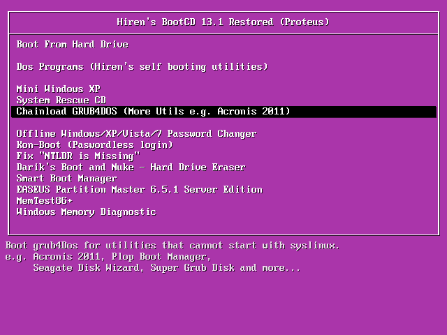 hiren boot cd 13.1