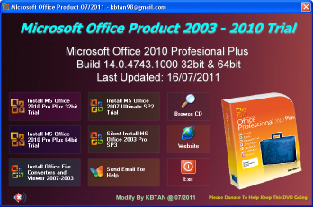 office 2010 trial version